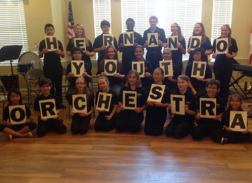 Hernando Youth Orchestra Group photo